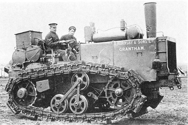 Tractor oruga fabricado por Hornsby