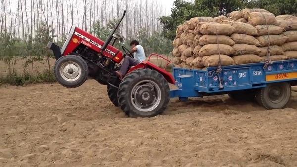 Encabritamiento de tractor con remolque