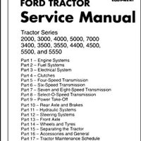 A MUST FOR OWNERS, MECHANICS & RESTORERS 1973, 1974 & 1975 FORD TRACTOR FACTORY REPAIR SHOP & SERVICE MANUAL 2000, 3000, 400, 7000, 3400, 3500, 3550, 4400, 4500, 550, 5550