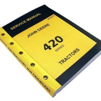 John Deere 420 430 435 Series Tractors and Crawlers Technical Service Manual New Print 670 Pages