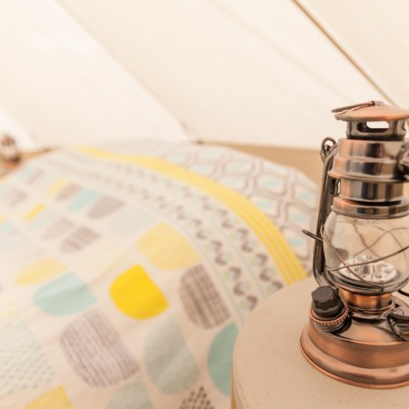 Glamping bell tent hire Northumberland