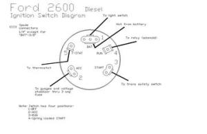 2600 Ford  Ingnition Switch Diagram  TractorShed