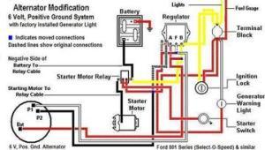 Ford 871 With Installed Generator Light  Alternator