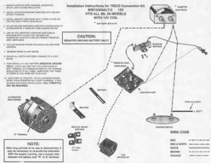Ford 2N9N  Tisco 12 Volt Conversion Kit Wiring