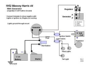 Massey Harris 22, Wiring Diagram  Yesterday's Tractors (112263)