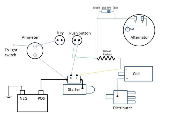 1 wire alternator wiring diagram ford alternator free printable wiring diagrams