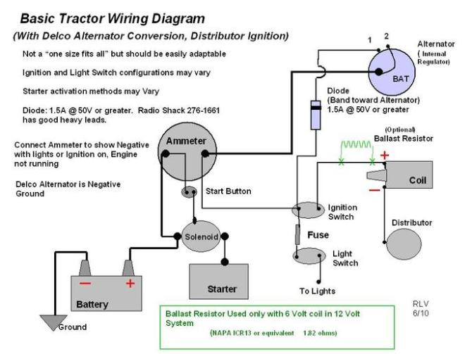 diagram long tractor alternator wiring diagram full version