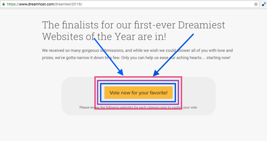 Blog Nominated for Dreamiest Awards