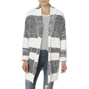 Simply Styled Women's Mixed Knit Cardigan – Striped