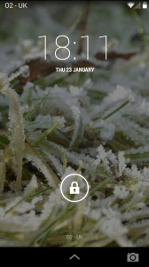 Moto G Lock Screen