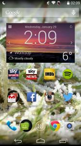 Moto G Home Screen1