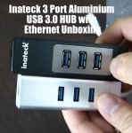 Inateck 3 Port Aluminum USB 3.0 HUB with Ethernet Unboxing