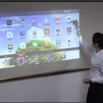 Lazertouch mini projector transforms a surface into 150-inch touchscreen