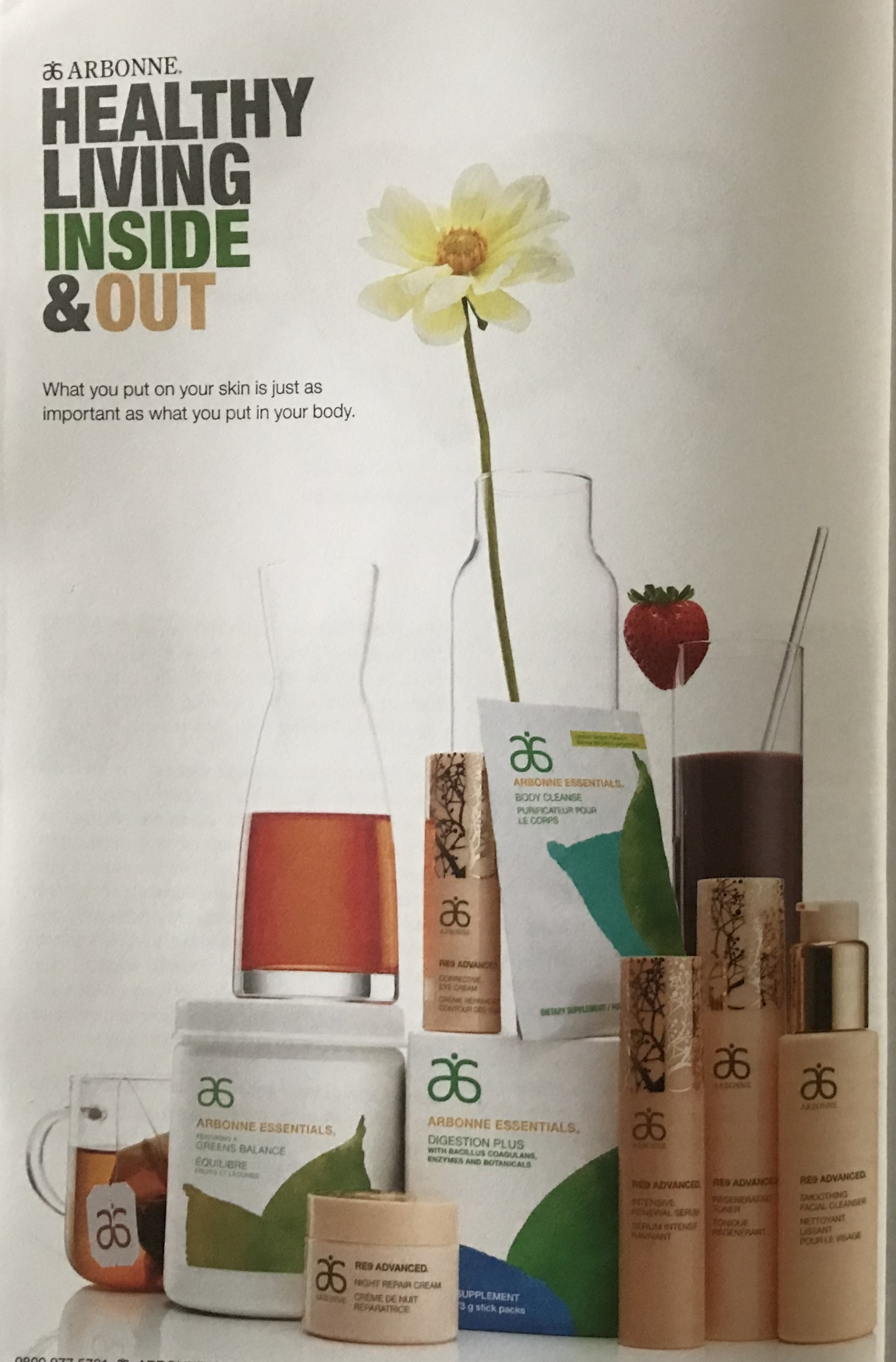 Arbonne healthy living inside and out