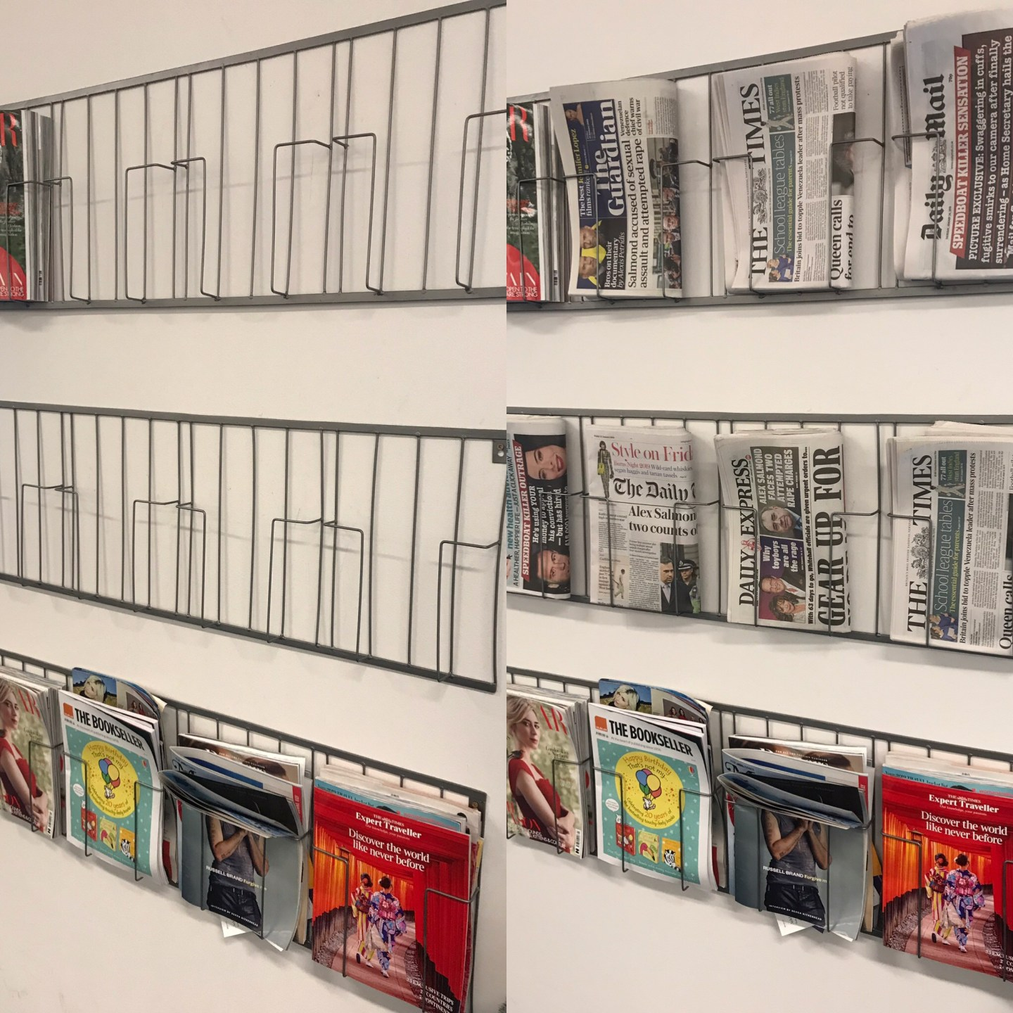 Before and after, my daily newspaper job
