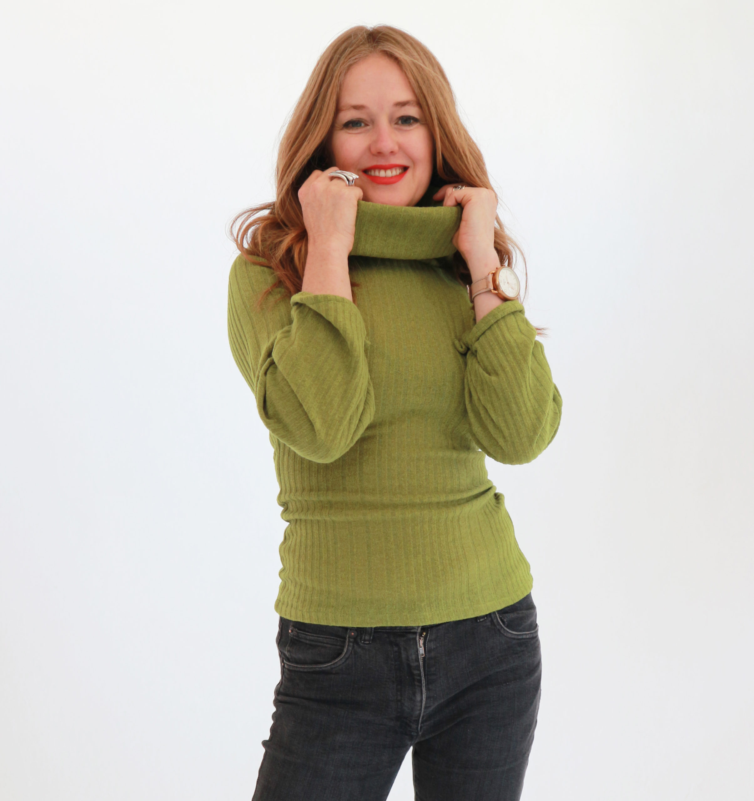 Chartreuse sweater - fashion for women over 40 - Tracy ...