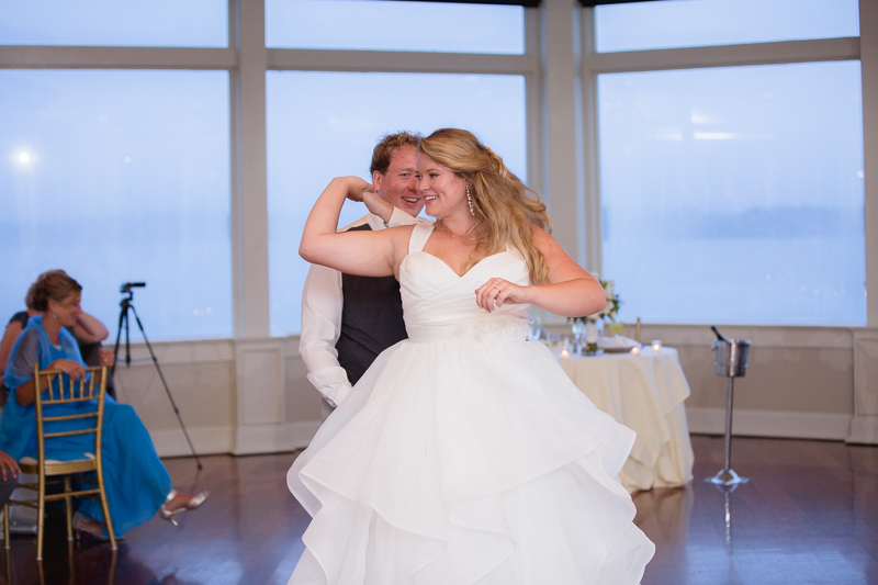first dance, wedding reception, reception, ocean cliff wedding, wedding, tracy jenkins photography, wedding photography, beach wedding, newport wedding, ocean cliff, rhode island