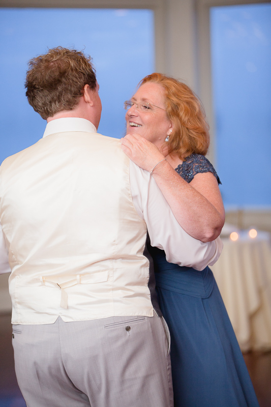 mother son dance, wedding dance, parent dance, wedding reception, reception, ocean cliff wedding, wedding, tracy jenkins photography, wedding photography, beach wedding, newport wedding, ocean cliff, rhode island