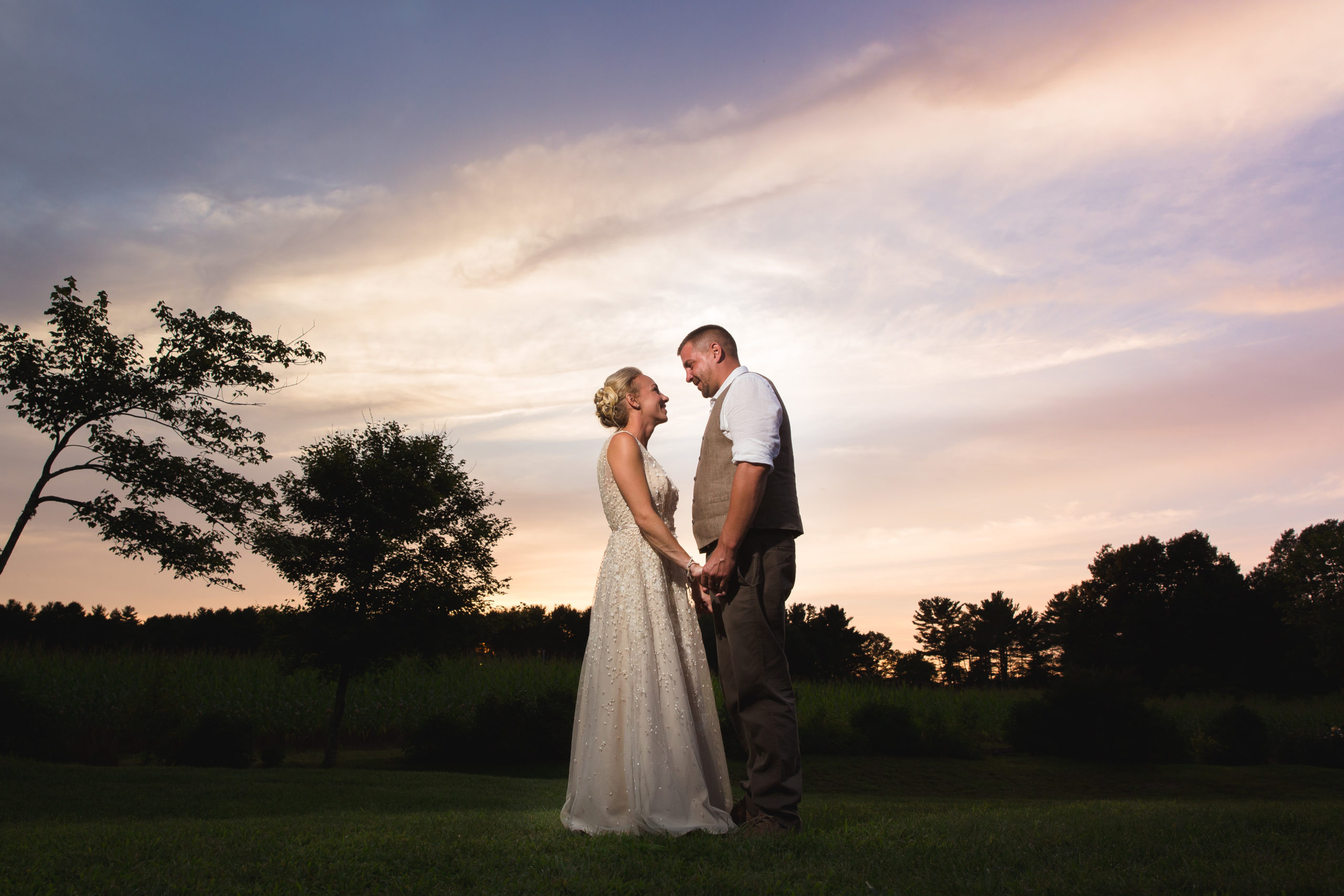 Coventry, Rhode Island, RI, Backyard Wedding, forest, earthy, wedding, tracy jenkins photography, wedding photographer, ri wedding photographer, Rhode Island Wedding photographer, couple photos, sunset