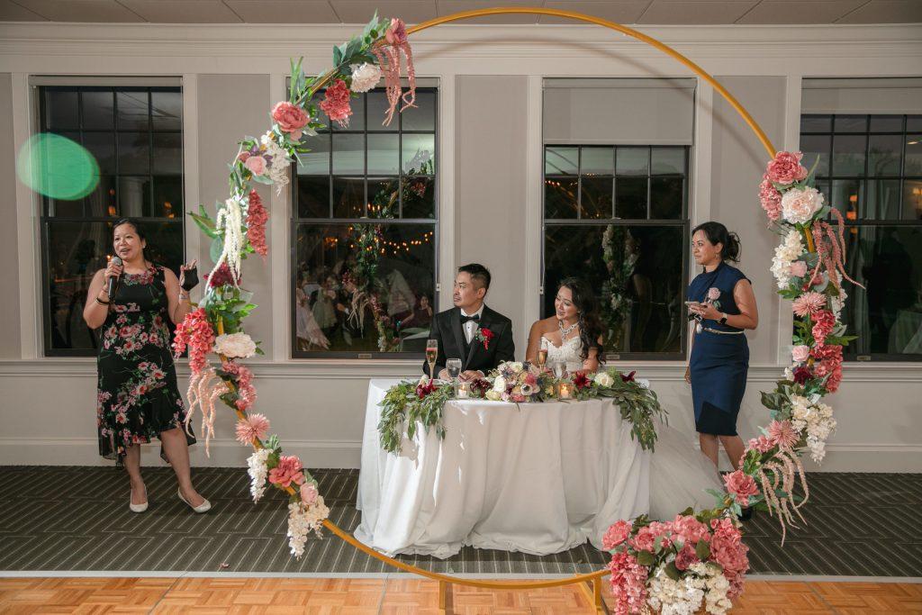 Harbor lights, warwick, rhode island, RI, Tracy Jenkins Photography, RI wedding photographer, Rhode Island wedding photographer, micro-wedding, reception, toast