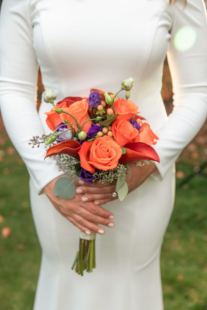 Rhode Island, RI, RI wedding photographer, RI wedding photography, Tracy Jenkins Photographer, bridal bouquet, the country farmer, orange flowers