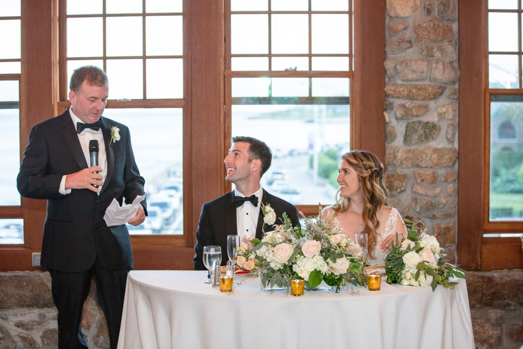 Wedding, Narragansett Towers, The Towers, Narragansett, Rhode Island, RI, Tracy Jenkins photography, RI wedding photographer, Rhode Island wedding photographer, wedding reception, toasts