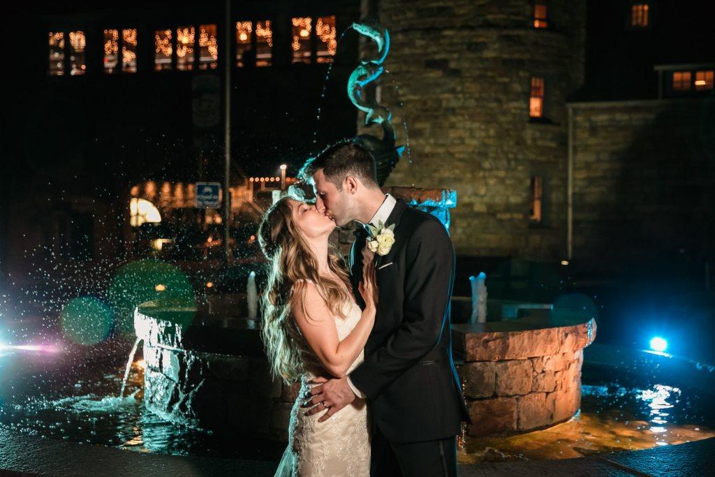 Wedding, Narragansett Towers, The Towers, Narragansett, Rhode Island, RI, Tracy Jenkins photography, RI wedding photographer, Rhode Island wedding photographer, couple photos, water fountain, bride, groom