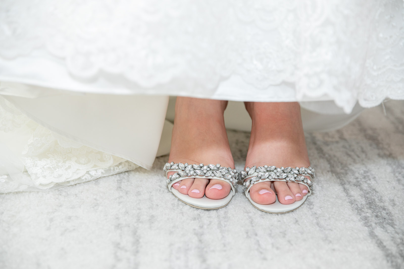 Newport Harbor Hotel, Newport harbor hotel and Marina, Newport, rhode island, beach wedding, harbor wedding, coastal wedding, wedding, Tracy jenkins photography, RI wedding photographer, Rhode Island wedding photographer, wedding shoes, getting ready, details, rhinestones, pink toes
