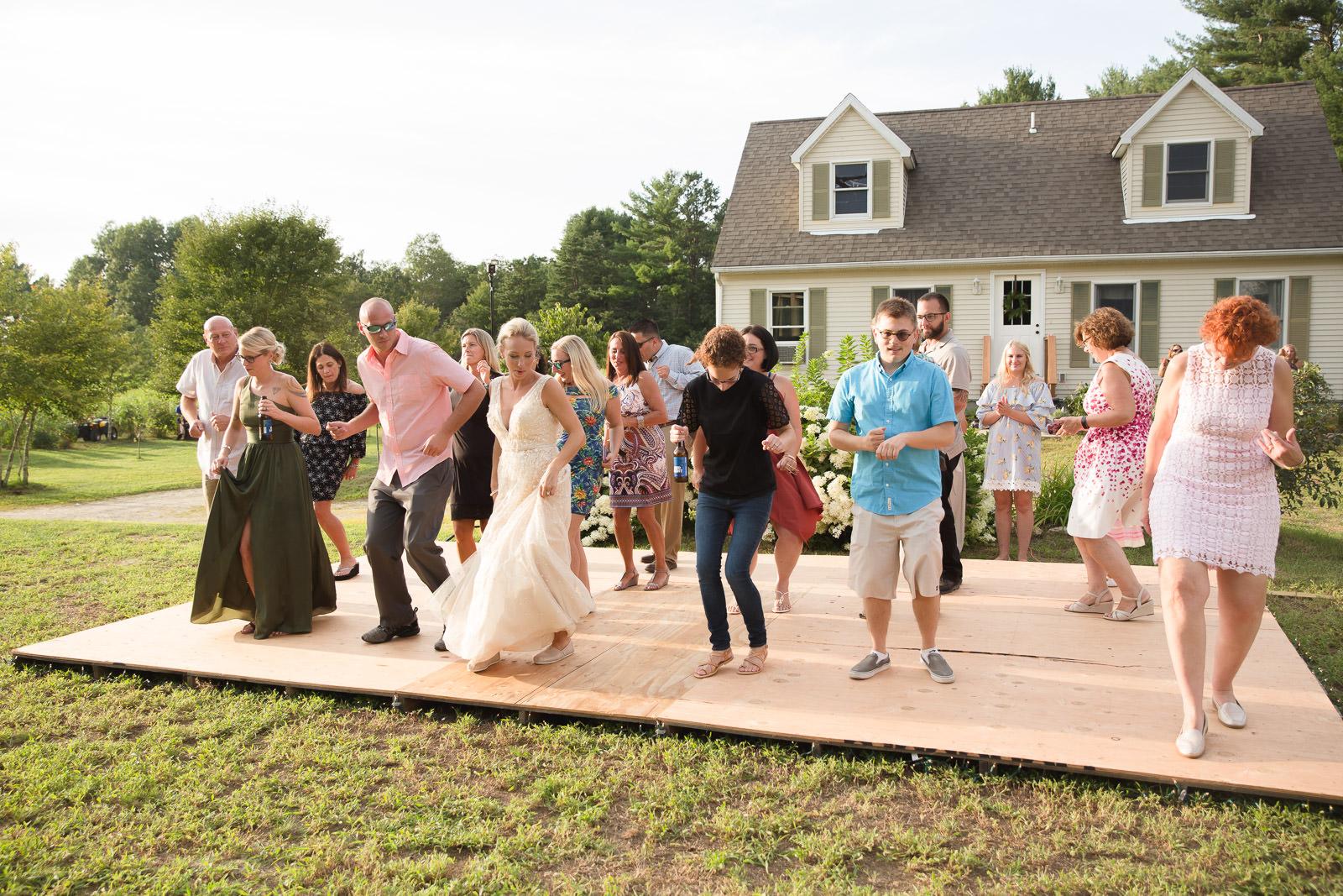 Coventry, Rhode Island, RI, Backyard Wedding, forest, earthy, wedding, tracy jenkins photography, wedding photographer, ri wedding photographer, Rhode Island Wedding photographer, wedding reception, dance floor