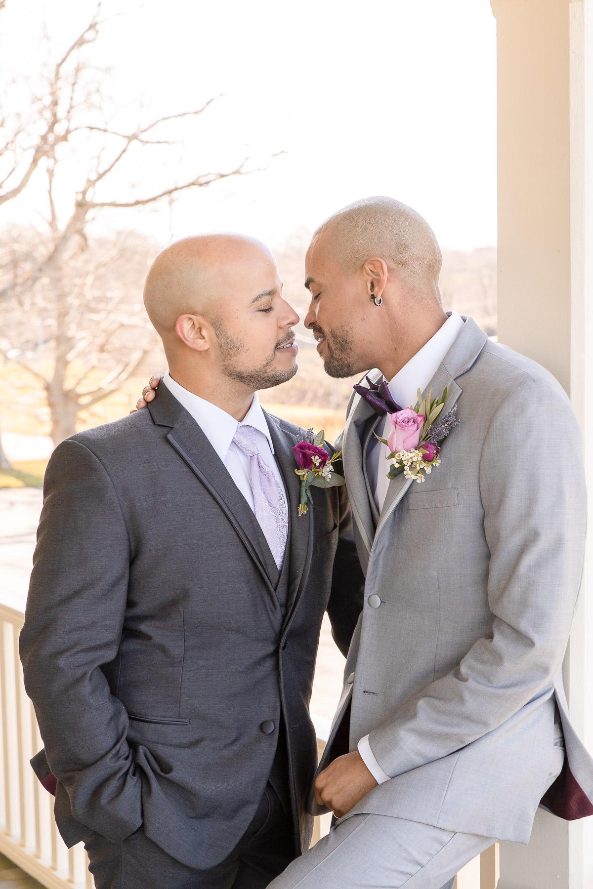 Eisenhower House, Newport, Rhode Island, Tracy Jenkins Photography, wedding, LGBTQ+, LGBT, Gay, Inclusive, Photography, Wedding photography, groom, grooms, couple portraits
