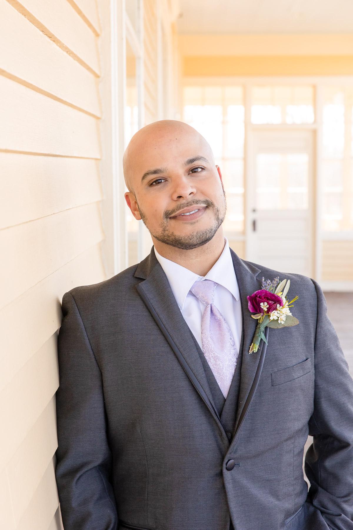 Eisenhower House, Newport, Rhode Island, Tracy Jenkins Photography, wedding, LGBTQ+, LGBT, Gay, Inclusive, Photography, Wedding photography, groom, portrait