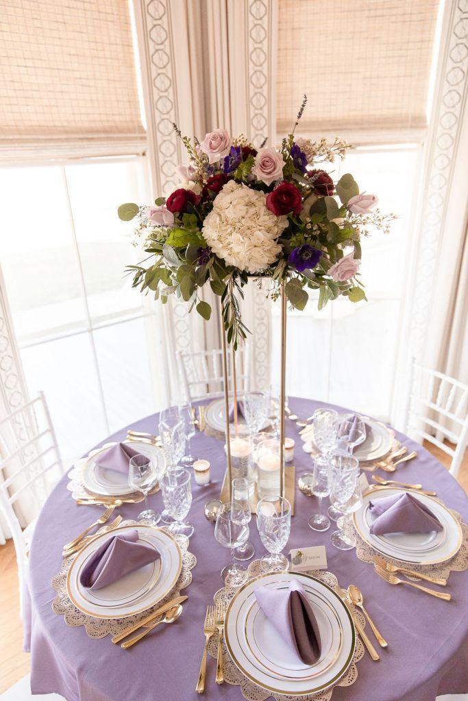 Eisenhower House, Newport, Rhode Island, Tracy Jenkins Photography, wedding, LGBTQ+, LGBT, Gay, Inclusive, Photography, Wedding photography, center piece, table setting