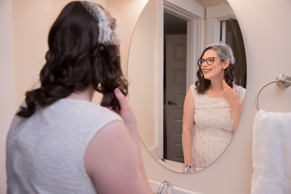 mirror check, getting ready, wedding, bride, tracy jenkins photography, publick house, Massachusetts, new england,  photography
