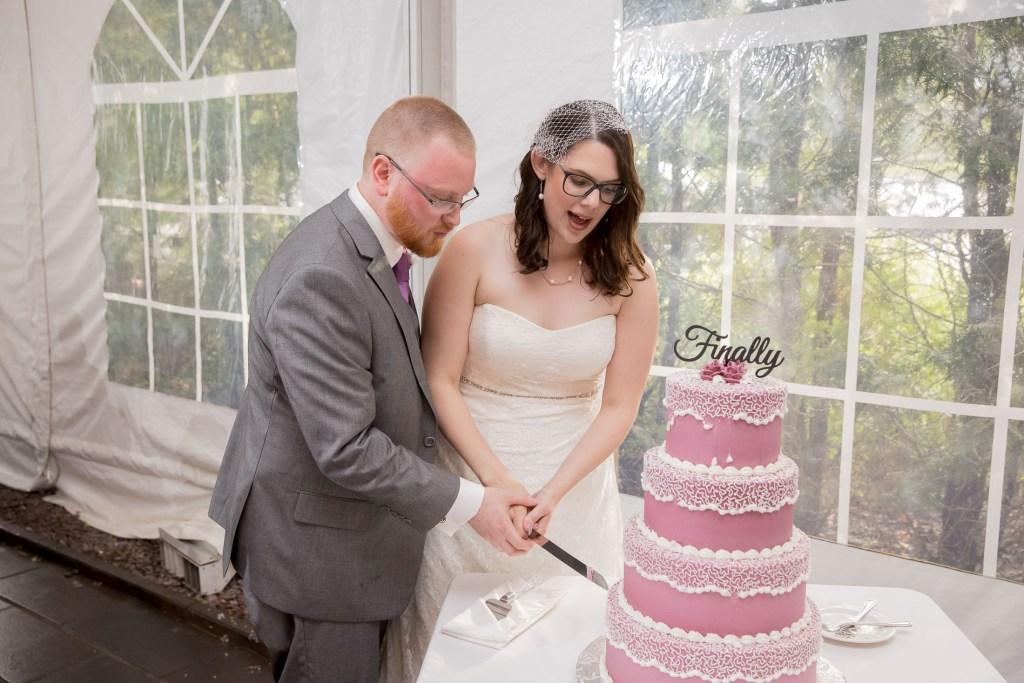 cut the cake, reception, wedding, tracy jenkins photography, publick house, Massachusetts, new england,  photography
