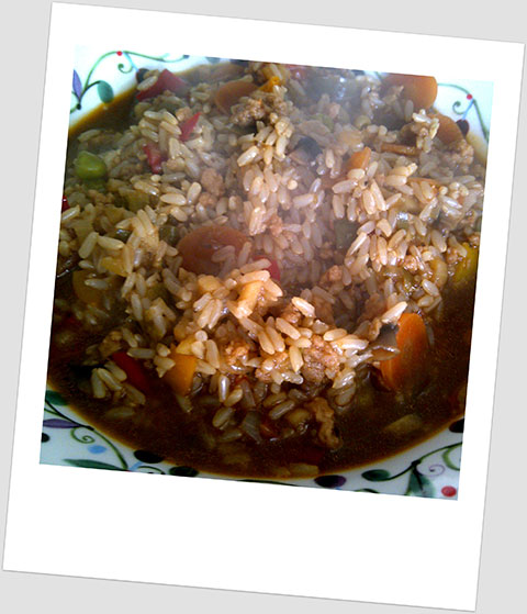 Soya Mince Risotto