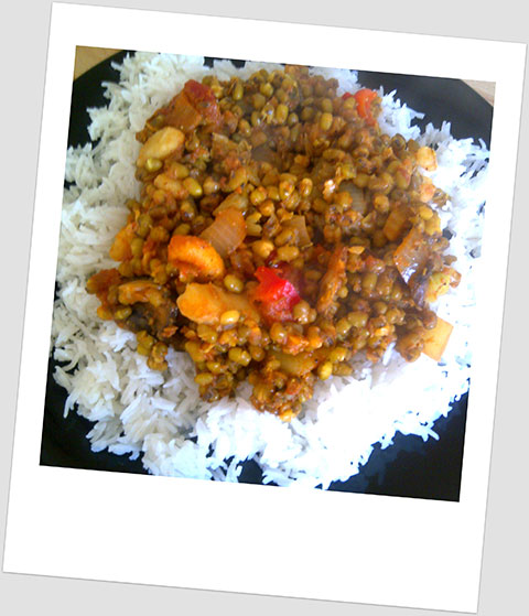 Dinner Day x: Mung Bean Curry And Boiled White Rice