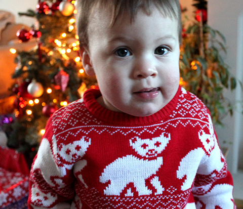 My Adorable Son Gabriele On Christmas Morning