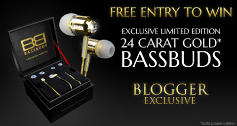 The New 24 Carat Gold Bassbuds