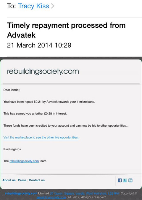 I Have Received My First Payment From Advatek For £0.