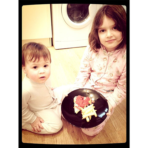 The Children Wanted To Make Heart Shaped Pizza For Valentines Day Dinner