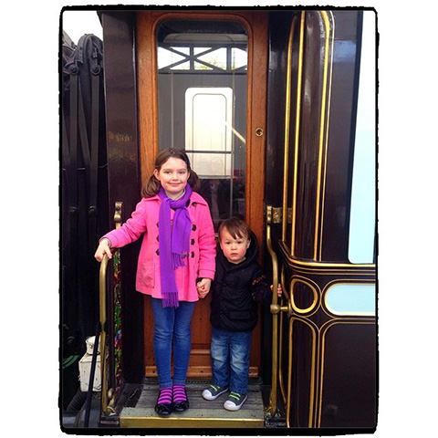 The Children Loved Riding The Trains At The Railway Centre