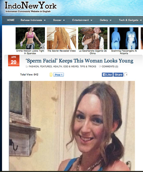 Report On My Semen Facial Blog Review