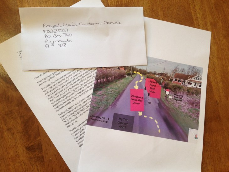 I Am Filing A Written Complaint To The Royal Mail Following A Postmans Dangerous Driving