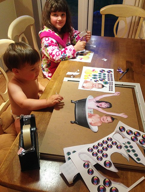 Millie And Gabriele Love To Create And Craft