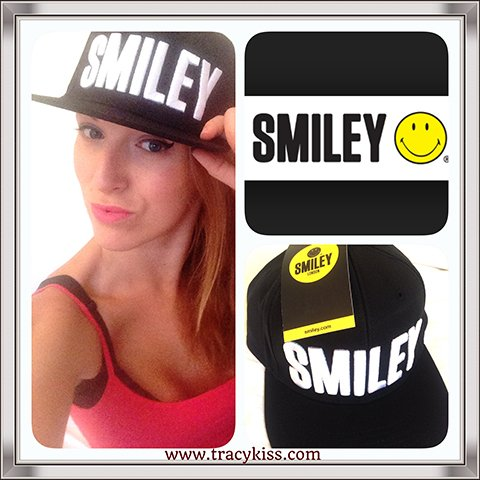 Tracy Kiss Wears Smiley Black Snapback Cap For Smiley London