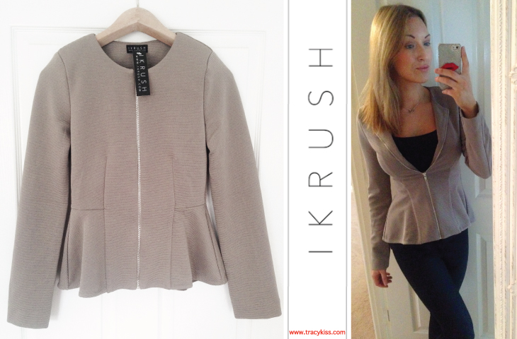 IKRUSH Delilah Grey Tailored Blazer