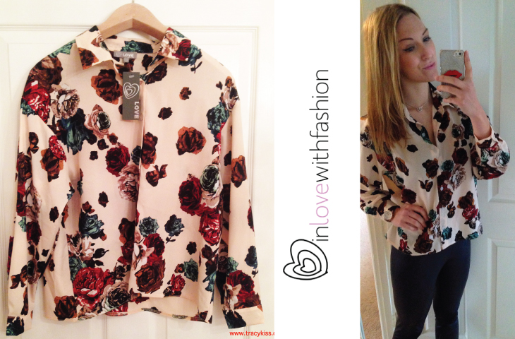 In Love With Fashion Scattered Rose Boxy Shirt