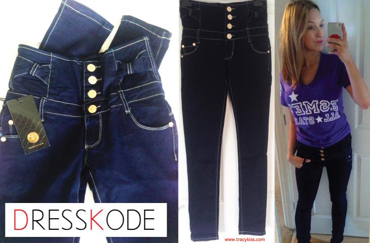 DressKode High Waisted S. AC Button Jeans