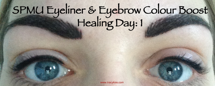 SPMU Eyebrow & Eyeliner Colour Boost Healing Day 1