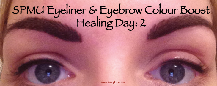SPMU Eyebrow & Eyeliner Colour Boost Healing Day 2
